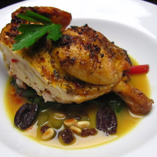 GRILLED CORNISH GAME HENS AGRODOLCE (VINEGAR SAUCE)