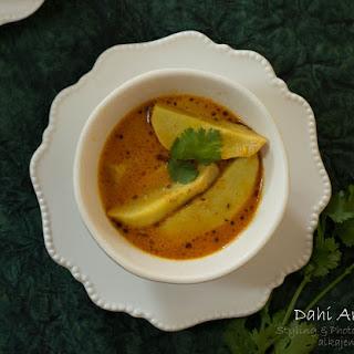 Dahi Arbi (Tangy yogurt based Taro Root Curry).