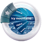 Icy mountains GO Keyboard