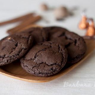 Chocolate Pumpkin Spice Kiss Cookies