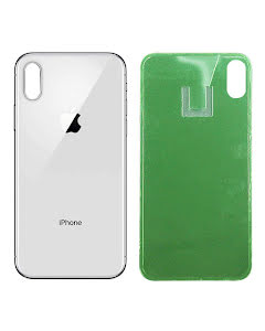 iPhone X Back Glass Silver/White