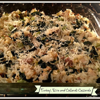 Turkey, Rice and Collards Casserole