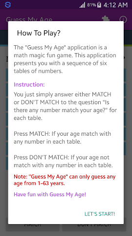 android Guess My Age Screenshot 6