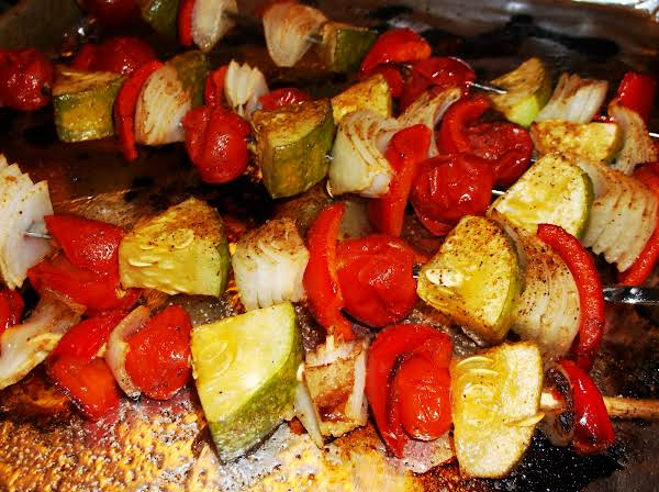 Oven-roasted Veggie Kabobs (or Grilled) Recipe