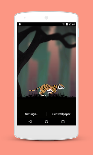 Jungle Tiger Run LiveWallpaper