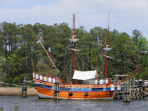 Photo: Reproduction of the 16th Century ship Elizabeth II
