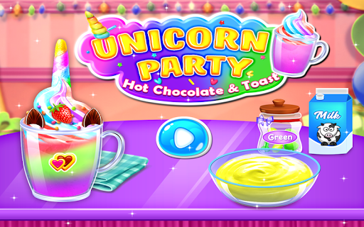 Unicorn Hot Chocolate & Toast Party - Cooking Game 1.0.1 screenshots 1