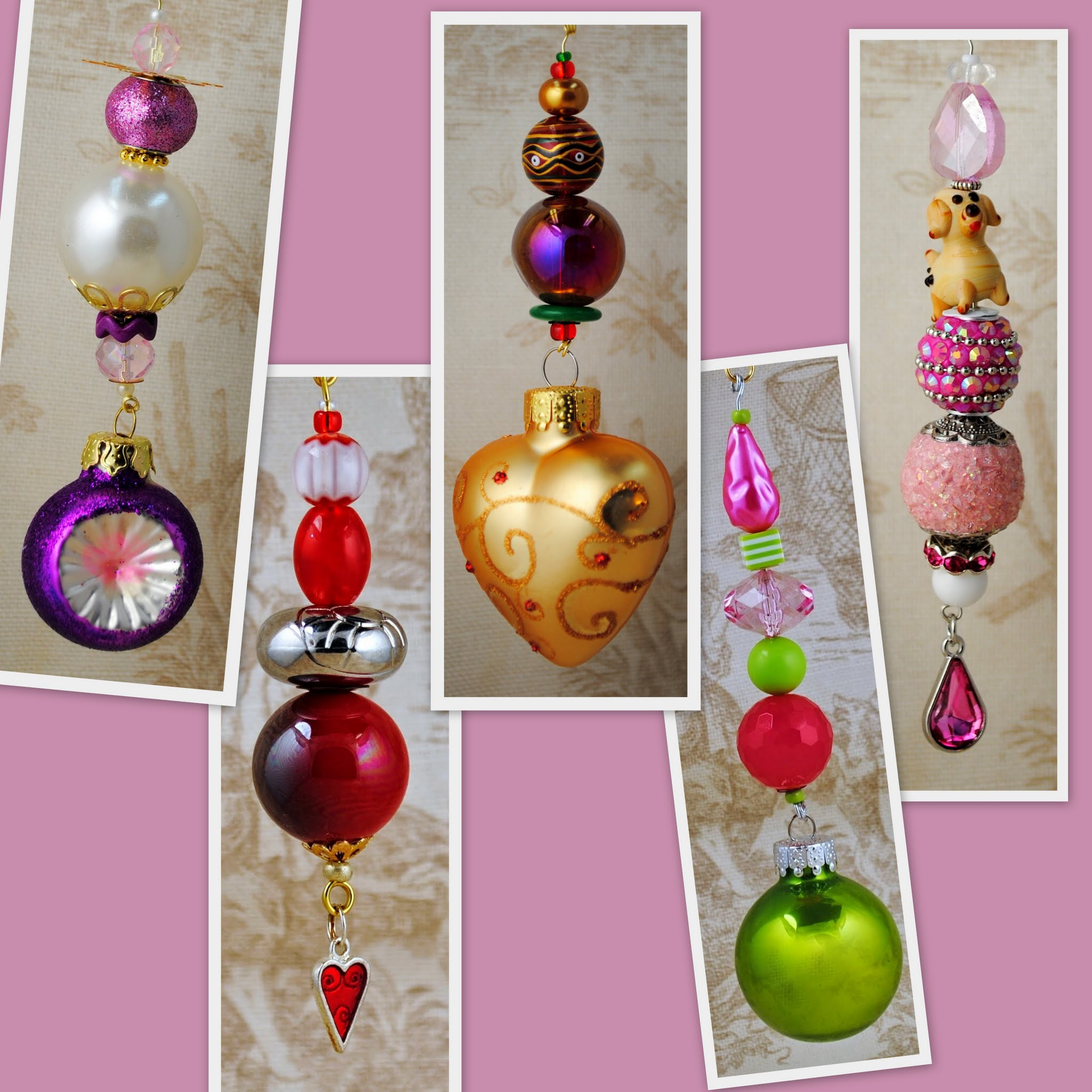 All About Pink Valentine's Day Themed Christmas Ornaments