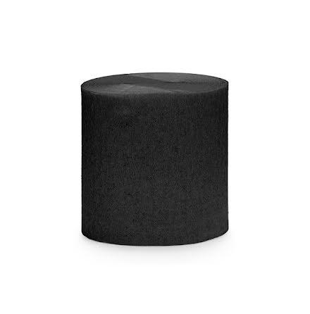 4-pack Crepepapper på rulle - svart