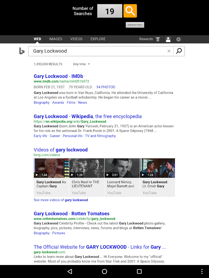 ReSearch with Bing- screenshot