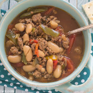 Crock Pot Hamburger Bean Soup.