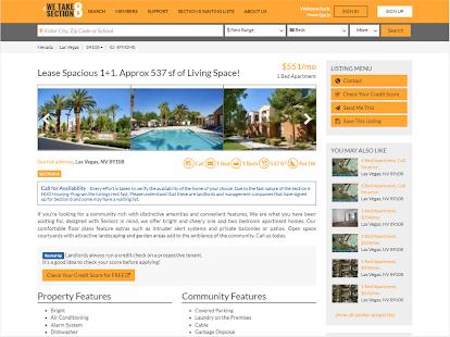 Section 8 And Affordable Rentals Screenshot Thumbnail