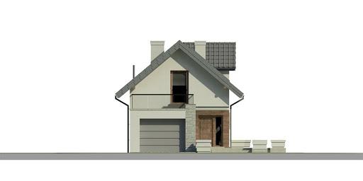 Dom przy Migdałowej 3 - Elewacja przednia