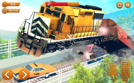 Train Vs Car Crash: Racing Games 2019 android2mod screenshots 7