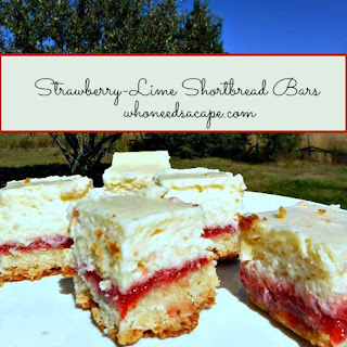 Strawberry-Lime Shortbread Bars