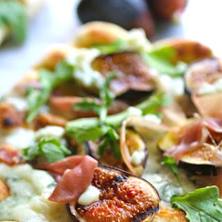 Grilled Pizza with Fig, Prosciutto and Blue Cheese Recipe