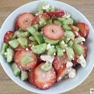 Strawberry Cucumber Salad with Feta.