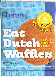 Eat Dutch Waffles Blueberry Waffles, Box of 16