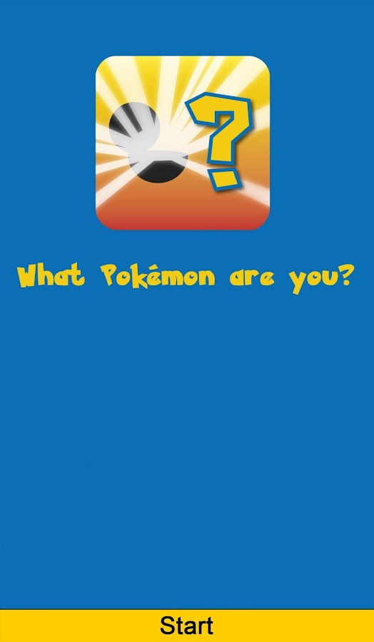 What Pokémon are you?- screenshot