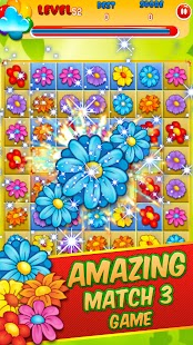 Blossom Connect Mania - Match 3 Puzzle Game - náhled