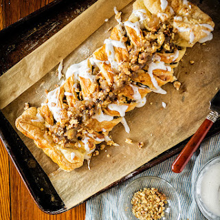 Puff Pastry Austrian Apple Strudel.