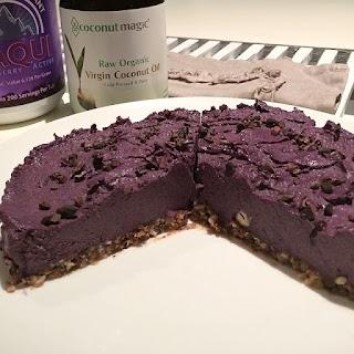 Raw Maqui Berry & Coconut Cheesecake