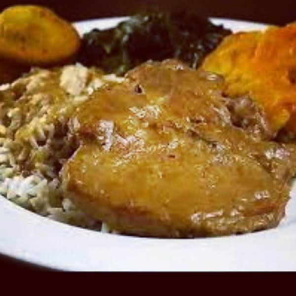 From Instagram: Smothered Pork Chops And Rice, Iris Http://instagram.com/p/rjy164vyfl/