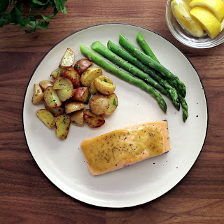 Maple Dijon Broiled Salmon.
