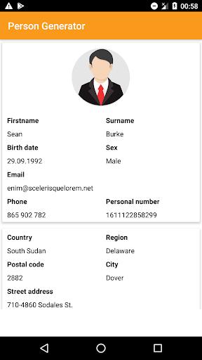 Person Generator screenshot 1