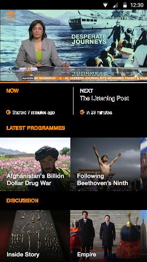 Screenshot 3 for Al Jazeera's Android app'