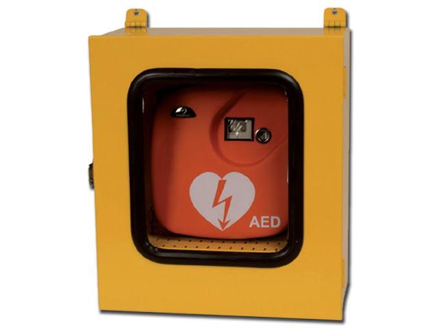 Utomhusskåp för hjärtstartare