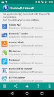 Screenshot of Bluetooth Firewall Trial
