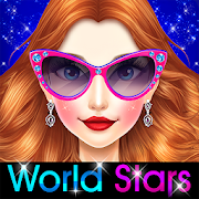 Game World Stars Fashion Hairstyles && Dress Up apk for kindle fire