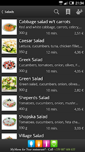 MyMenu screenshot 2