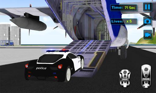 Police Car Transporter 3D
