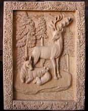 Photo: Ciervos (reunión familiar). Tamaño: 61 x 45 cm. Talla en madera. Woodcarving.   Para leer algo más en relación con esta obra ir al blog: http://tallaenmadera-woodcarving-esculturas.blogspot.com/2012/02/ciervos-reunion-familiar.html
