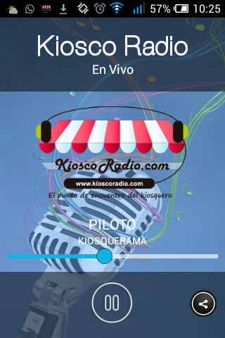 Kiosco Radio: captura de pantalla