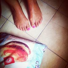 Photo: rainbow toes
