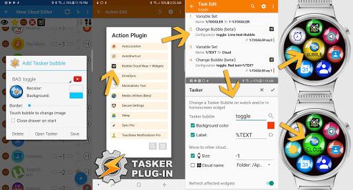 Bubble Cloud Wear Launcher Watchface (Wear OS) 9.39 screenshots 21