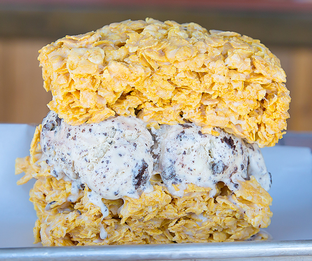 photo of a Cereal Bar Ice Cream Sandwich