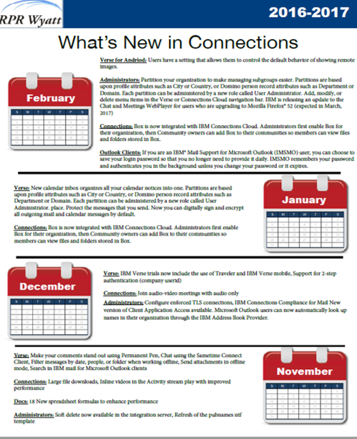 What's new in IBM Connections February
