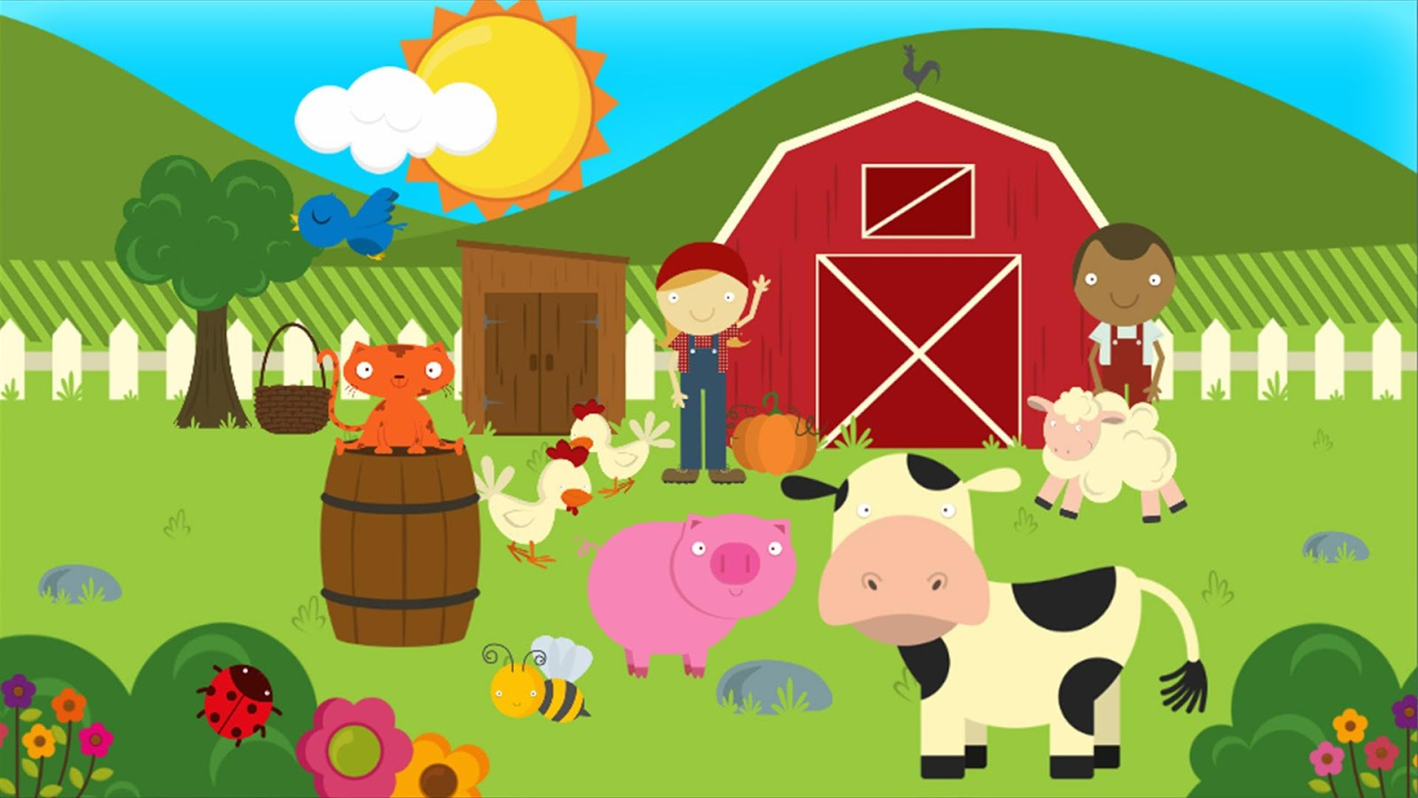 Farm Animals For Kids Farm Games Anim...