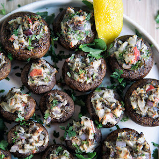 Crab-Stuffed Mushrooms.