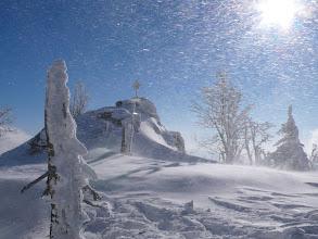 Photo: Zwercheck-Gipfel bei Sonne und Böhmischem Wind