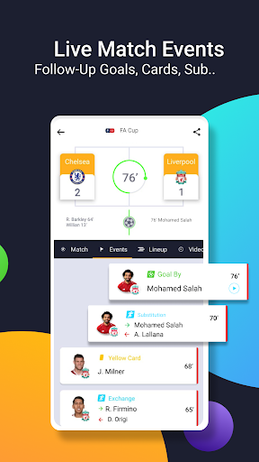 mobiSCORE | Live Scores, Goals Highlights Fixtures Apk 2