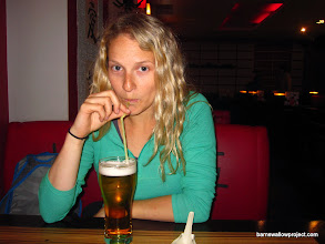 Photo: Women are often served straws to drink their beer out of in Russia...according to Liz, using it is quite unpleasant