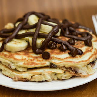 These Nutella-Filled Chocolate Chip Banana Pancakes Will Cure Your Hangover