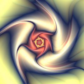 Bloomy by Cassy 67 - Illustration Abstract & Patterns ( swirl, wallpaper, digital art, fractal art, circle, flowers, fractal, digital, fractals, flower )