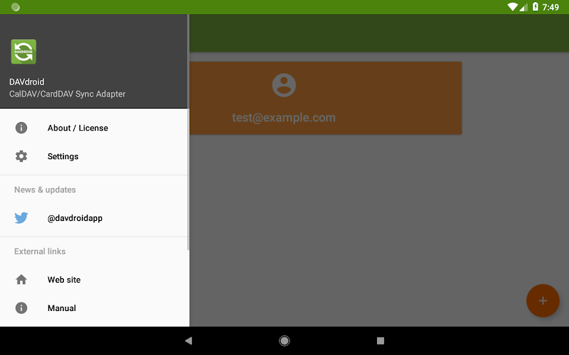 DAVx⁵ – CalDAV/CardDAV Client Screenshot 10