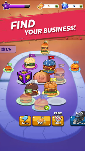 Merge Burger: Food Evolution Cooking Merger apkpoly screenshots 13